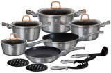 Набір кухонного посуду Berlinger Haus Moonlight Edition 15 предметів