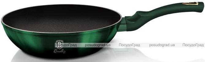 Сковорода-вок Berlinger Haus Emerald Collection Ø28см с титановым покрытием