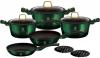 Набір кухонного посуду Berlinger Haus Emerald Collection 10 предметів