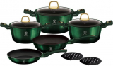 Набор кухонной посуды Berlinger Haus Emerald Collection 10 предметов