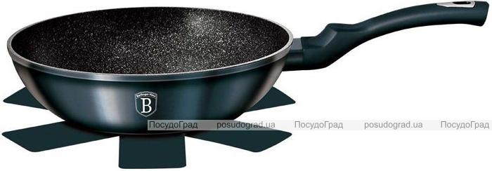 Сковорода-вок Berlinger Haus Aquamarine Edition Ø30см с мраморной крошкой