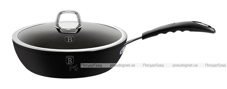 Сковорода-сотейник Berlinger Haus Black Professional Line Ø24 з титановим покриттям, з кришкою
