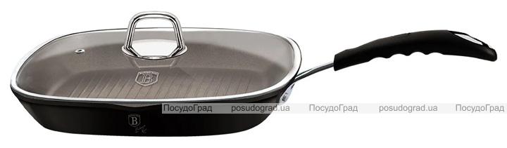 Сковорода-гриль Berlinger Haus Black Professional Line Ø28 з титановим покриттям, з кришкою