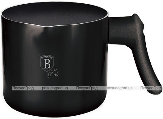 Кружка для кипячения молока (молочник) Berlinger Haus Black Rose 1.2л, мраморное антипригарное покрытие
