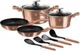 Набір кухонного посуду Berlinger Haus Rose Gold 10 предметів з антипригарним покриттям Marble Coating