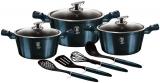 Набір кухонного посуду Berlinger Haus Aquamarine Edition 3 каструлі та аксесуари