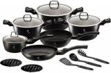 Набор кухонной посуды Berlinger Haus Black Silver 15 предметов