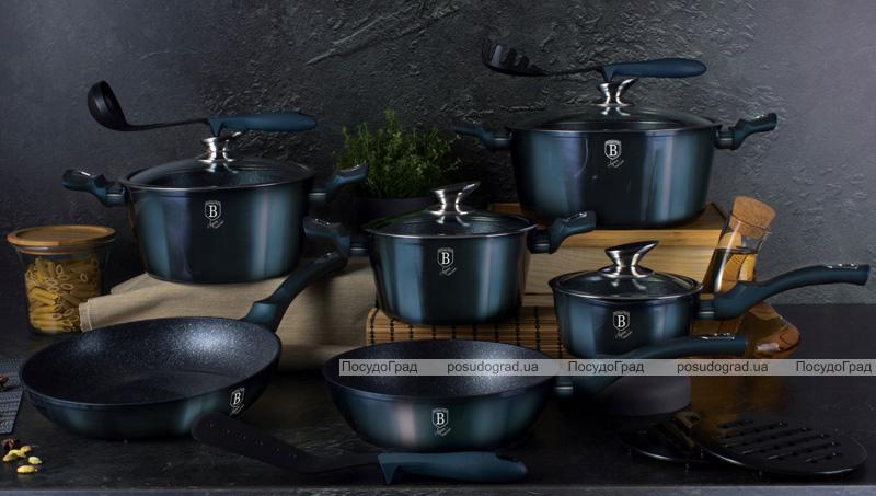 Каструля Berlinger Haus Aquamarine Edition 2.5л з мармуровою крихтою