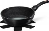 Глубокая сковорода Berlinger Haus Black Rose Ø24х6.5см с мраморным покрытием, двумя носиками