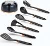 Набір кухонних аксесуарів Berlinger Haus Black Rose нейлон, 6 предметів на підставці