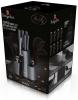 Кухонний набір Berlinger Haus Moonlight Edition 5 ножів і кухонні аксесуари на підставці