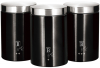 Набір банок Berlinger Haus Black Silver 3 банки Ø11х17.8см з нержавіючої сталі