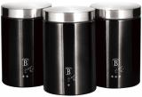 Набор банок Berlinger Haus Black Silver 3 банки Ø11х17.8см из нержавеющей стали
