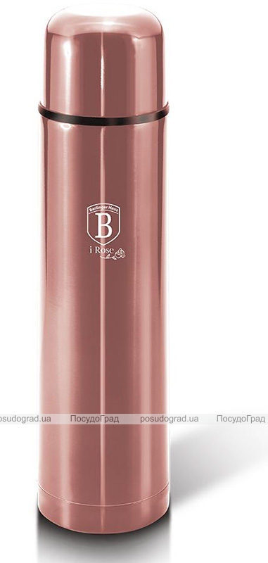 Термос Berlinger Haus I-Rose 1л из нержавеющей стали, розовое золото