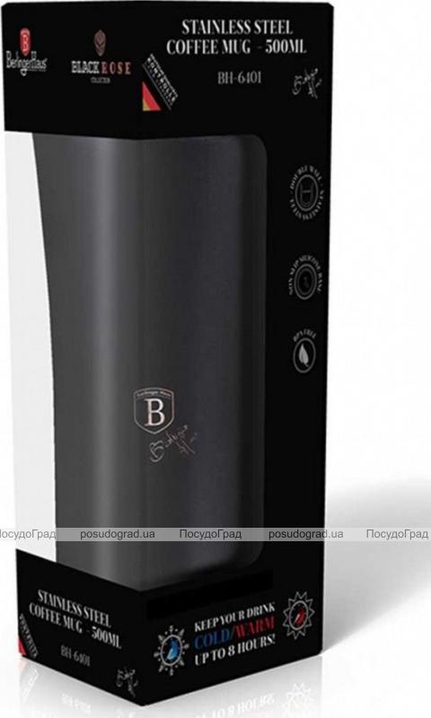 Термокружка Berlinger Haus Black Rose 500мл, нержавеющая сталь