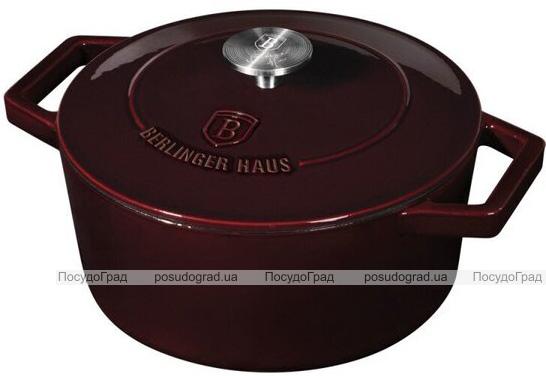 Кастрюля чугунная Berlinger Haus Burgundy 4.3л с эмалевым покрытием