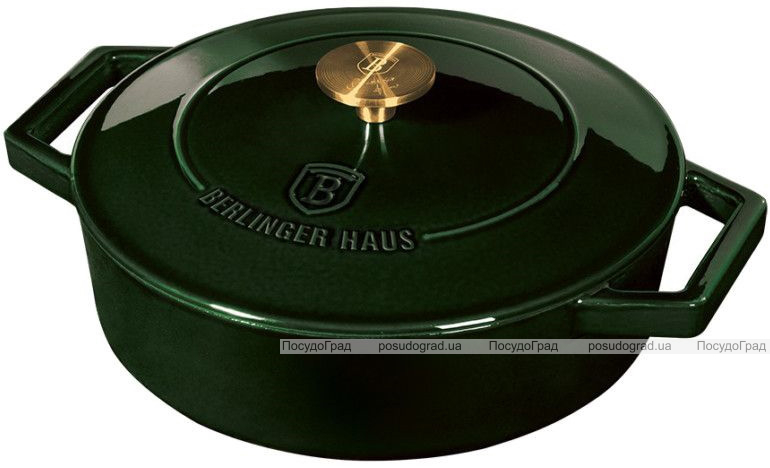 Кастрюля чугунная Berlinger Haus Emerald Collection Ø26х7.5см с эмалевым покрытием