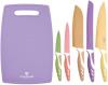 Набор кухонных ножей Blaumann Rainbow с антибактериальным покрытием, 6 предметов