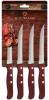 Набір 4 столових стейкових ножа Blaumann Redwood з дерев'яними ручками