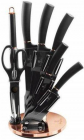 Набор ножей Berlinger Haus Black Rose из 7 предметов на вращающейся подставке