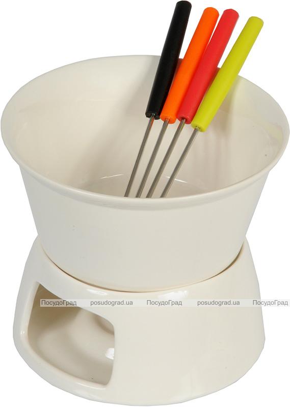 Набор для фондю EDCO Chocolate 5 предметов на 4 персоны, керамика