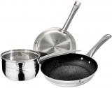 Набір 2 сковороди і ківш Blaumann Gourmet з нержавіючої сталі