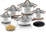 Набір кухонного посуду Blaumann Gourmet 13 предметів з нержавіючої сталі