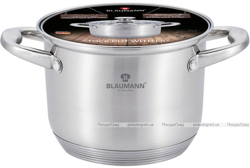 Каструля Blaumann Gourmet 9.5л Ø26х19см з нержавіючої сталі зі скляною кришкою