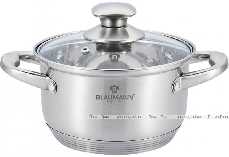 Кастрюля Blaumann Gourmet 7.6л Ø26х15.5см из нержавеющей стали со стеклянной крышкой