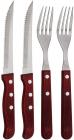 Набір для стейка Blaumann Gourmet 2 виделки і 2 ножа з дерев'яними ручками