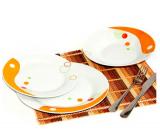 """Набор тарелок """"Абстракция инь-янь"""" 18 предметов на 6 персон"""