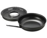 Сковорода Гриль-Газ Ø32см эмалированная черная