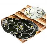 """Набір тарілок """"Black&White flower"""" 18 предметів"""