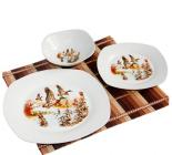 Набір посуду Мисливець, Качки 13 предметів на 6 персон