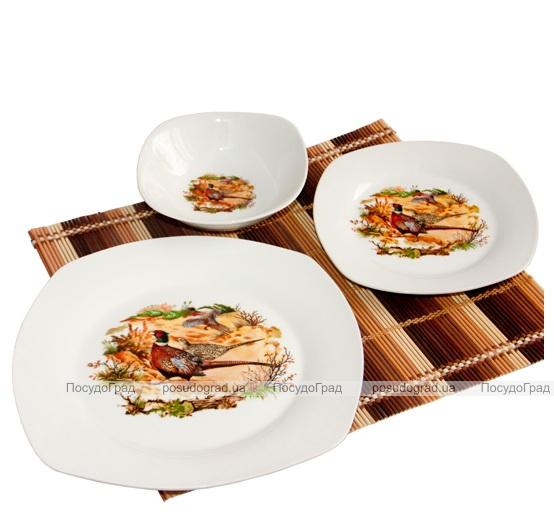 Набор посуды Охотник, Фазан 13 предметов на 6 персон