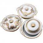 Марміт DaVinci 2,4л фарфор з золотим декором, круглий