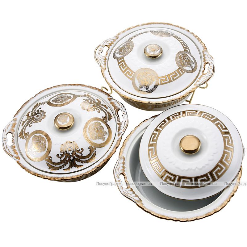 Мармит DaVinci 2,4л фарфор с золотым декором, круглый