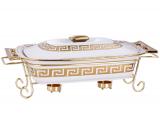 Мармит DaVinci 2,4л фарфор с золотым декором I, прямоугольный