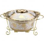 Мармит DaVinci 3,5л фарфор с золотым декором III, круглый