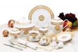 """Столовый сервиз Da Vinci """"Nero Gold"""" 57 предметов на 6 персон"""