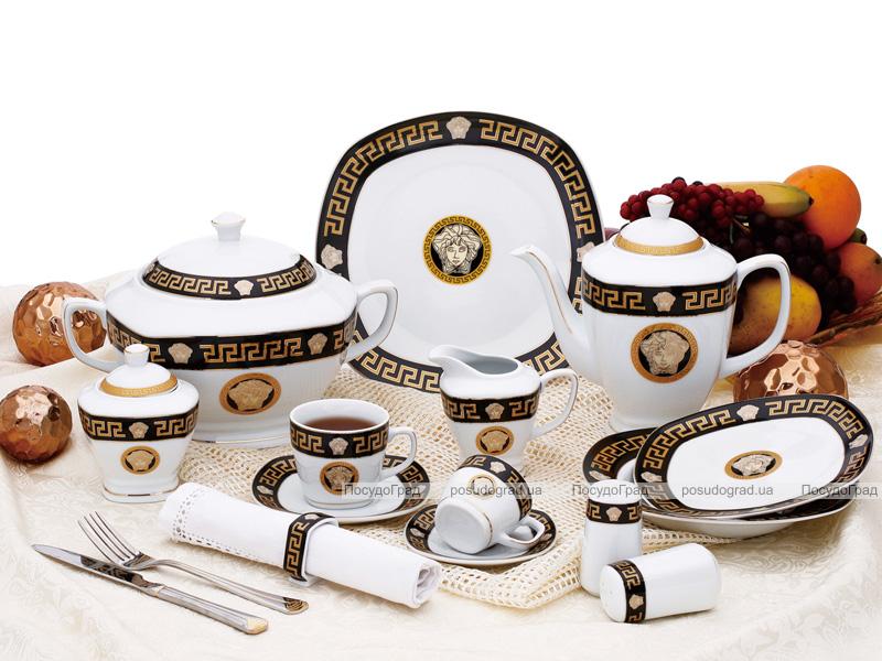 """Столовый сервиз Da Vinci """"Black Gold"""" 57 предметов на 6 персон"""