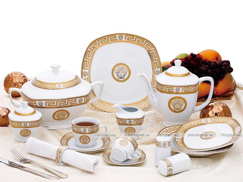 "Столовый сервиз Da Vinci ""White Gold"" 57 предметов на 6 персон"
