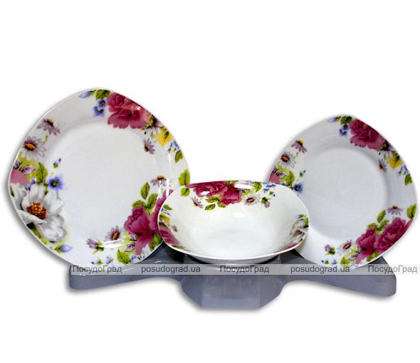 Столовый набор Bouquet of Pink Roses 18 предметов на 6 персон