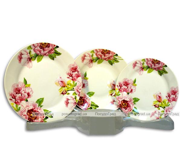 Столовый набор Pink Bouquet 18 предметов на 6 персон
