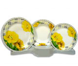 Столовый набор Cage and Yellow Flower 18 предметов на 6 персон