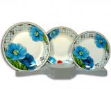 Столовый набор Cage and Blue Flower 18 предметов на 6 персон