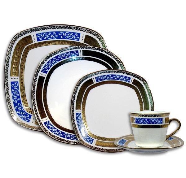 Столовый набор Golden Square Blue Ornament 30 предметов на 6 персон