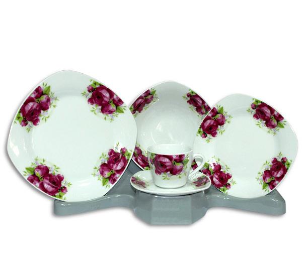 Столовый набор Bouquet of Crimson Roses 30 предметов на 6 персон