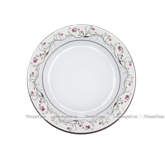 "Набор 6 тарелок мелких Elit ""Розовый цветок"" 19см"