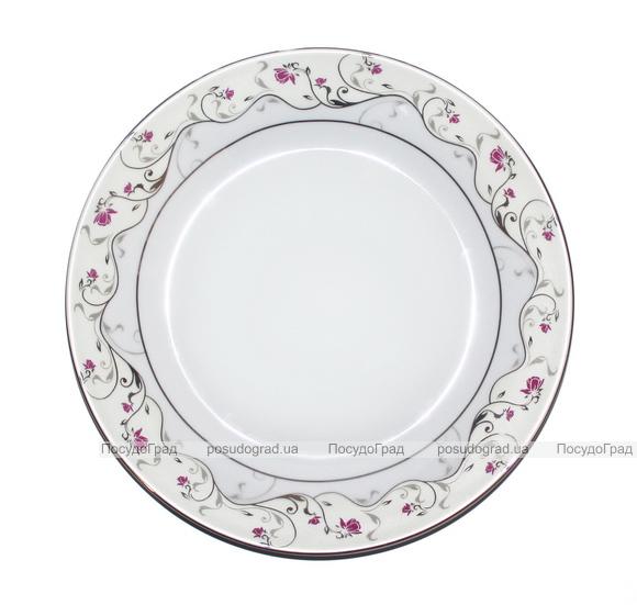 "Набор 6 тарелок мелких Elit ""Розовый цветок"" 23см"